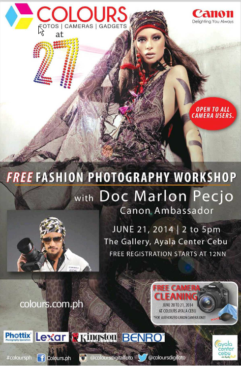 FREE Fashion Photography Workshop at Ayala