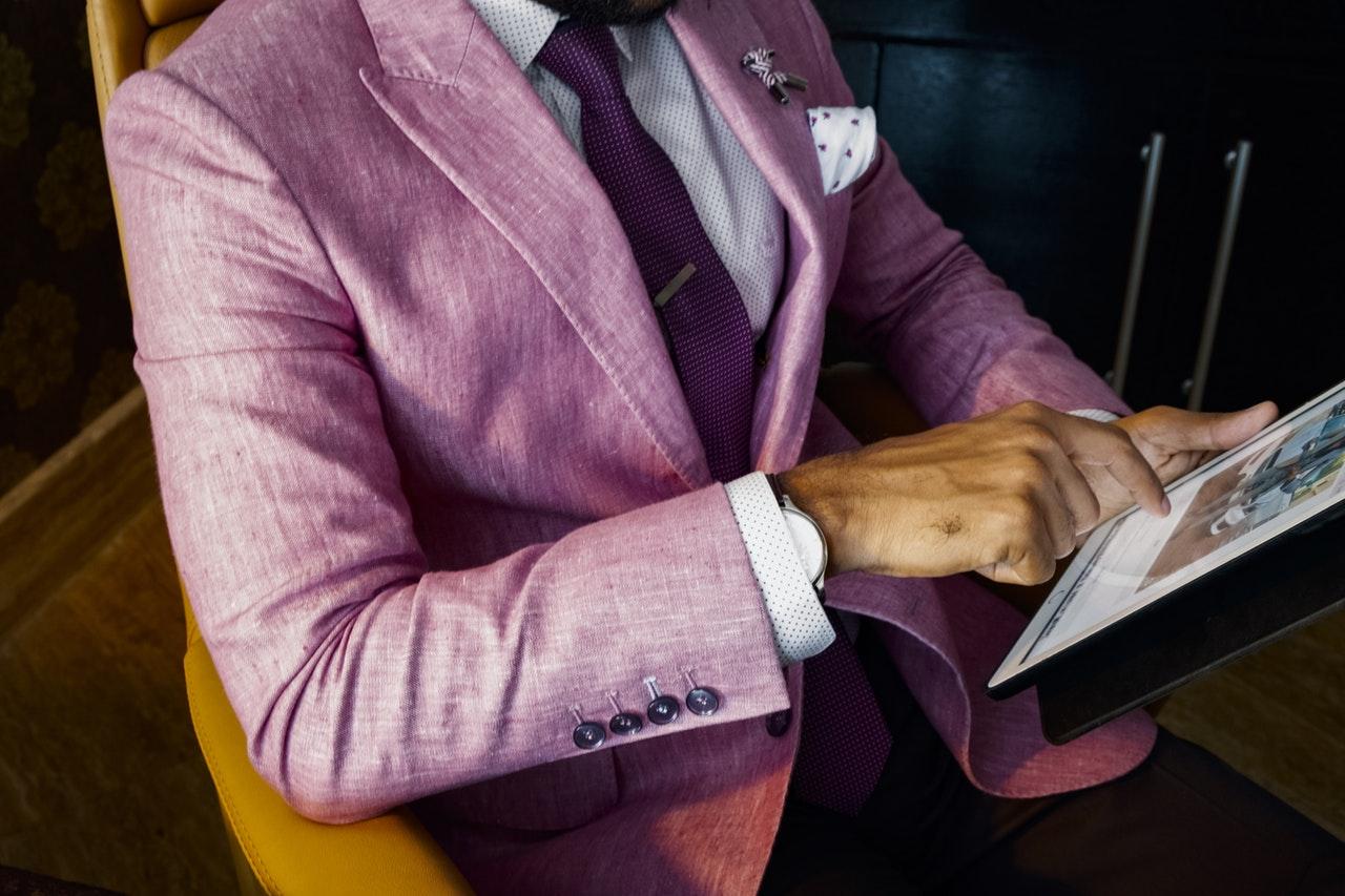 pink suit men