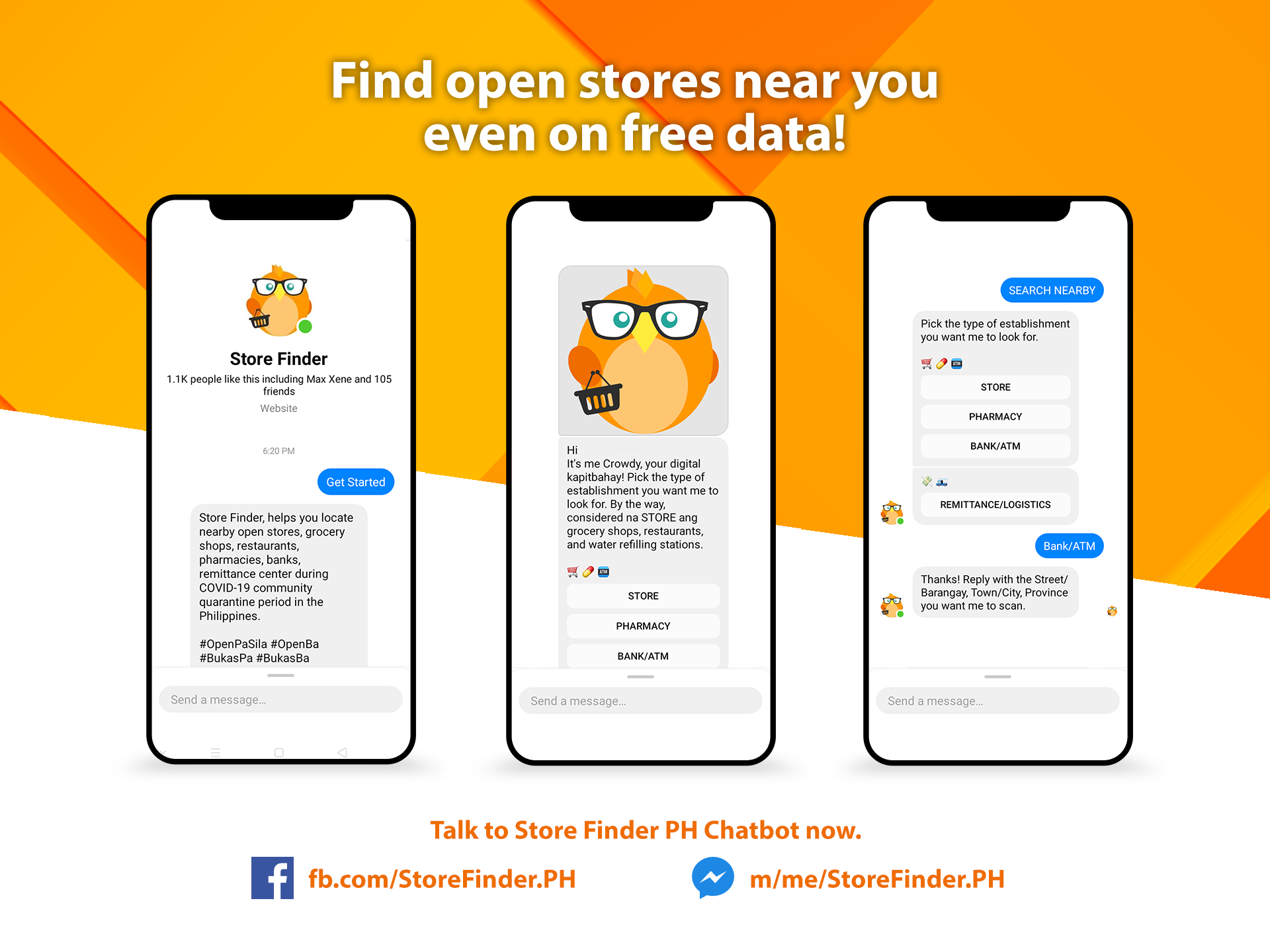 Store Finder PH Chatbot Photo
