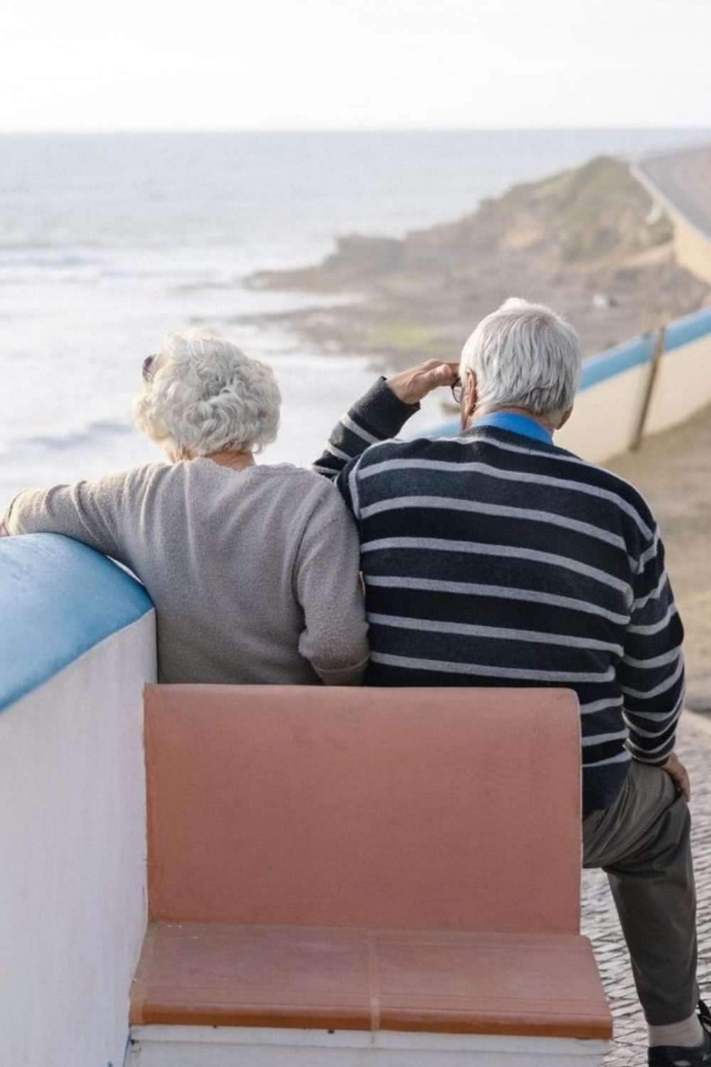 Old people by the sea